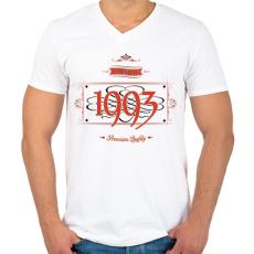 PRINTFASHION since-1993-red-black - Férfi V-nyakú póló - Fehér