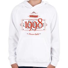 PRINTFASHION since-1998-red-black - Gyerek kapucnis pulóver - Fehér