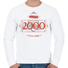 PRINTFASHION since-2000-red-black - Férfi pulóver - Fehér