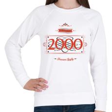 PRINTFASHION since-2000-red-black - Női pulóver - Fehér
