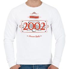 PRINTFASHION since-2002-red-black - Férfi pulóver - Fehér