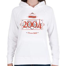 PRINTFASHION since-2004-red-black - Női kapucnis pulóver - Fehér