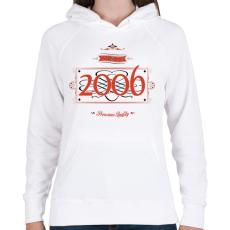 PRINTFASHION since-2006-red-black - Női kapucnis pulóver - Fehér