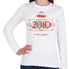 PRINTFASHION since-2010-red-black - Női hosszú ujjú póló - Fehér