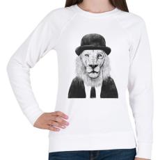 PRINTFASHION Sir lion - Női pulóver - Fehér