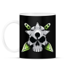 PRINTFASHION Skull and blade - Bögre - Fekete