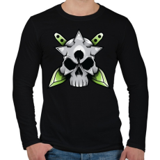 PRINTFASHION Skull and blade - Férfi hosszú ujjú póló - Fekete