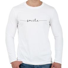 PRINTFASHION smile - Férfi hosszú ujjú póló - Fehér