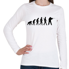 PRINTFASHION Sniper Evolution - Női hosszú ujjú póló - Fehér
