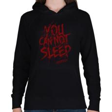 PRINTFASHION Soha ne aludj el! - Női kapucnis pulóver - Fekete