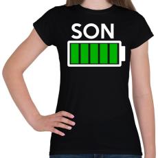 PRINTFASHION SON - Női póló - Fekete