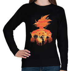 PRINTFASHION SonGoku holiday - Női pulóver - Fekete
