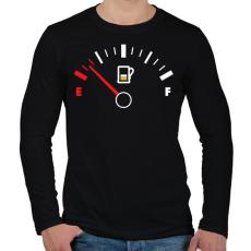PRINTFASHION Sör Tank - Férfi hosszú ujjú póló - Fekete