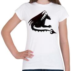 PRINTFASHION Sötét sárkány - Női póló - Fehér