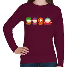 PRINTFASHION South Park - Női pulóver - Bordó