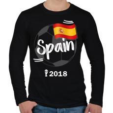 PRINTFASHION Spanyolország - Férfi hosszú ujjú póló - Fekete
