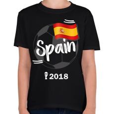 PRINTFASHION Spanyolország - Gyerek póló - Fekete