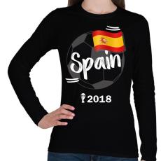 PRINTFASHION Spanyolország - Női hosszú ujjú póló - Fekete