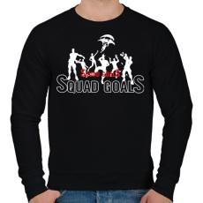 PRINTFASHION Squad Goals - Férfi pulóver - Fekete