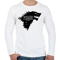 PRINTFASHION Stark - Férfi hosszú ujjú póló - Fehér
