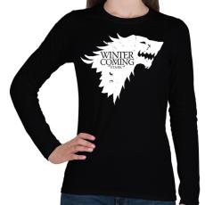 PRINTFASHION Stark - Női hosszú ujjú póló - Fekete