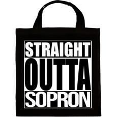 PRINTFASHION Straight Outta Sopron - Vászontáska - Fekete