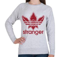 PRINTFASHION Stranger - Női pulóver - Sport szürke