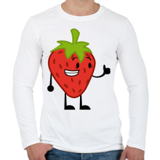 PRINTFASHION Strawberry  - Férfi hosszú ujjú póló - Fehér
