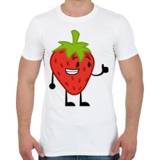 PRINTFASHION Strawberry  - Férfi póló - Fehér