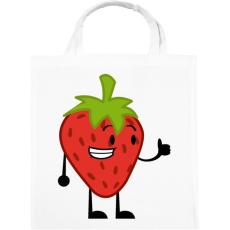 PRINTFASHION Strawberry  - Vászontáska - Fehér