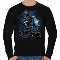 PRINTFASHION Sub Zero - Férfi pulóver - Fekete