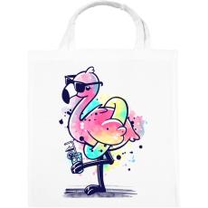 PRINTFASHION Summer Flamingo - Vászontáska - Fehér