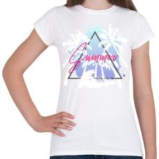 PRINTFASHION Summer - Női póló - Fehér