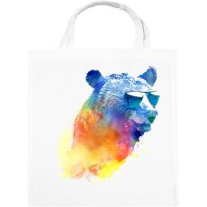 PRINTFASHION Sunny bear - Vászontáska - Fehér