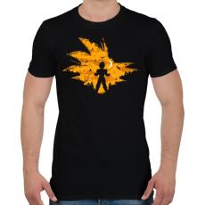 PRINTFASHION Super Saiyan - Férfi póló - Fekete