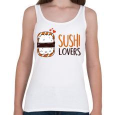 PRINTFASHION Sushi imádók - Női atléta - Fehér