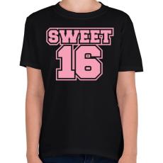 PRINTFASHION Sweet 16 - Gyerek póló - Fekete