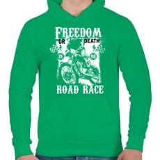 PRINTFASHION Szabadság vagy halál - Férfi kapucnis pulóver - Zöld