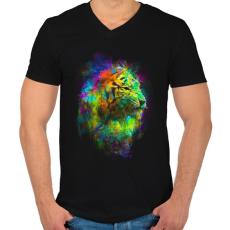 PRINTFASHION Szabadulás - Férfi V-nyakú póló - Fekete