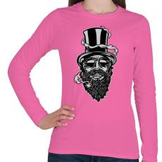 PRINTFASHION Szakáll - Női hosszú ujjú póló - Rózsaszín