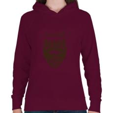 PRINTFASHION Szakáll - Női kapucnis pulóver - Bordó