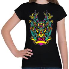 PRINTFASHION Szarvas ornamentikából - Női póló - Fekete