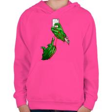 PRINTFASHION Szelfi - Gyerek kapucnis pulóver - Fukszia