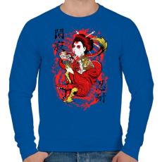 PRINTFASHION Szellemsárkány - Férfi pulóver - Királykék