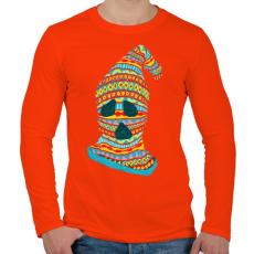 PRINTFASHION Szellemtolvaj - Férfi hosszú ujjú póló - Narancs