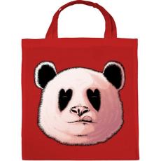 PRINTFASHION Szerelmes panda - Vászontáska - Piros