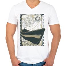 PRINTFASHION Szerencsétlen nap - Férfi V-nyakú póló - Fehér