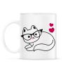 PRINTFASHION Szeretem a cicám - Bögre - Fehér