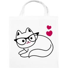PRINTFASHION Szeretem a cicám - Vászontáska - Fehér