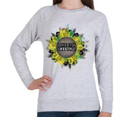 PRINTFASHION Szeretem a várost - Női pulóver - Sport szürke